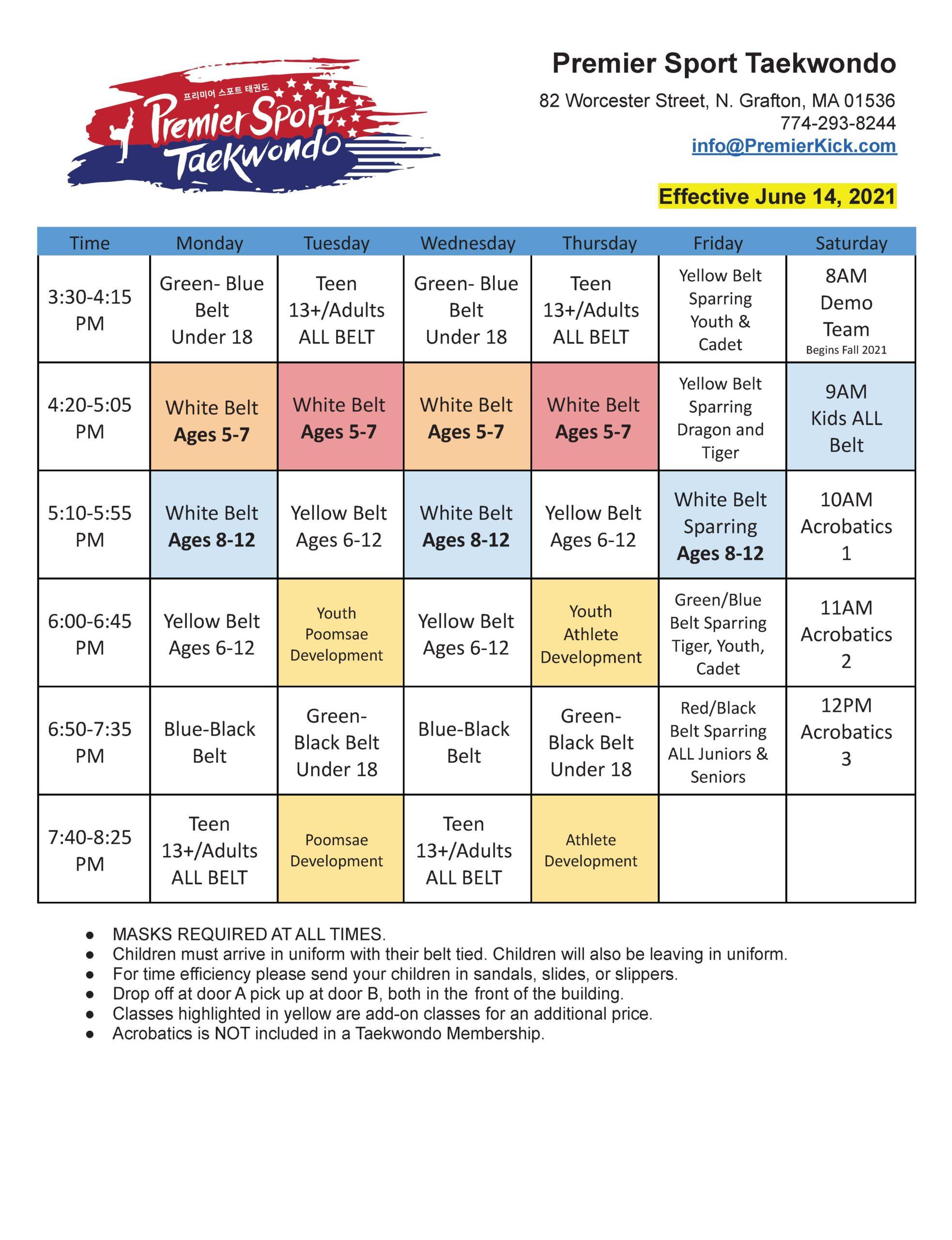 PSTKD Schedule