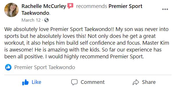Casey, Premier Sport Taekwondo
