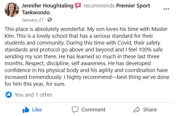 Houghtaling, Premier Sport Taekwondo